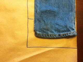 "Measure the cuff 1-2"" above the original hem and mark it."
