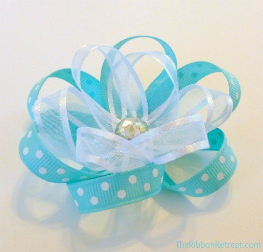 Ribbon Flower Bow easy to make yours